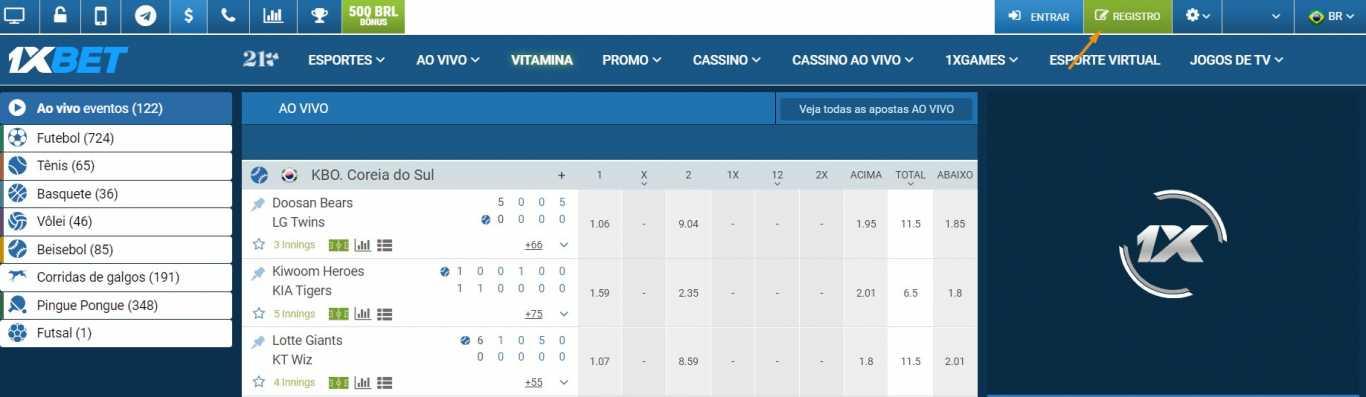 1xBet – a facilidade para ser registado no Brasil